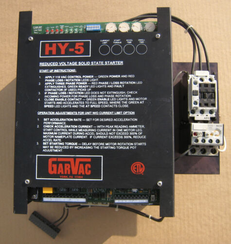 GarVac HY-5 Reduced Voltage Solid State Starter 3phase