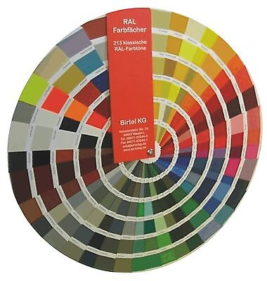 RAL Farbkarte Farbfächer Ralkarte Leuchtfarben Perlglanzfarben mit 213 Ralfarben