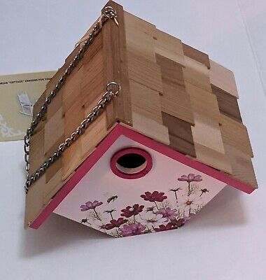By Home Bazaar Printed Standard Pink Floral Birdhouse - Cosmos New Home Decor!