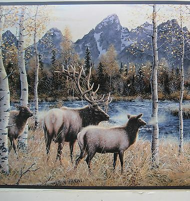 ELK  HUNTING OUTDOORS WILDLIFE  Wallpaper Border 10 1/4""