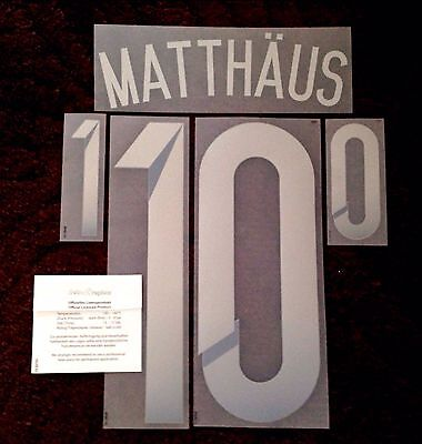 Germany WORLD CUP LEGEND Away Shirt 2014-15 MATTHAUS#10 Dekographics Name Number
