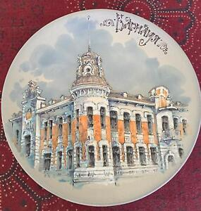 Stunning Hand Painted Plate Palm Beach Gold Coast South Preview