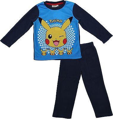 Pokemon Childrens Pikachu Long Sleeve Polar Fleece Pyjamas Long Sleeve Polar Fleece