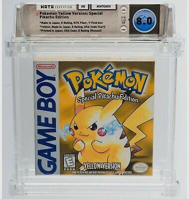 Game Boy Pokemon Yellow Version Special Pikachu Edition CIB WATA  8.0