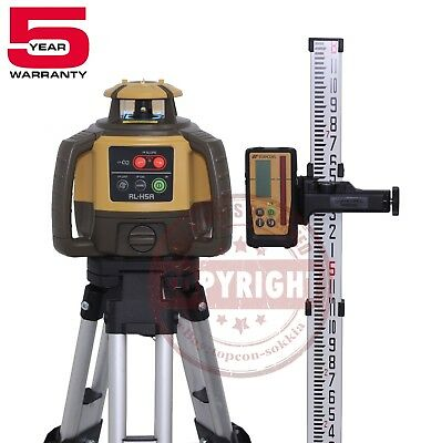 Topcon Rl-h5a Rechargeable Self-leveling Rotary Slope Laser Levelrbgradeinch