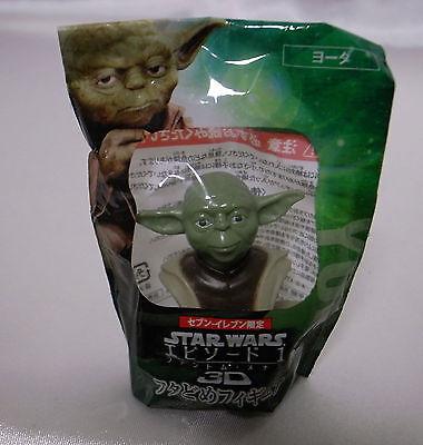 Yoda ramen cup top figure Star Wars Episode 1 3D Japanese Phantom Menace RARE