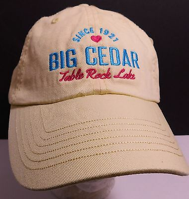 Used, Big Cedar Table Rock Lake Hat Cap Ridgedale Missouri USA Embroidery New for sale  Shipping to Canada