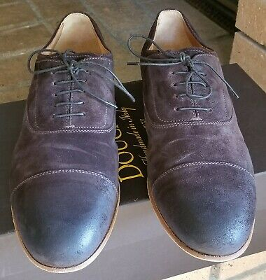 Doucal's Mens Oxfords Shoes - Brown Suede Leather - Cap Toe - Italy - 8.5 - 41.5