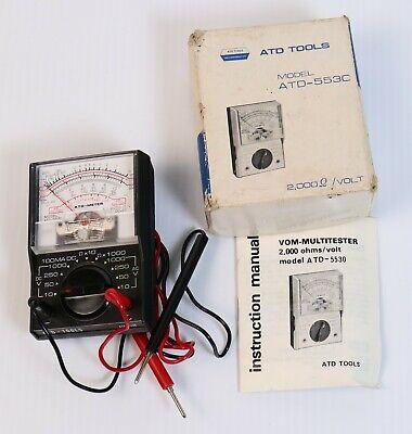 Vintage Atd Tools Atd-5530 Vom Multi Tester Multimeter 2000 Vohm