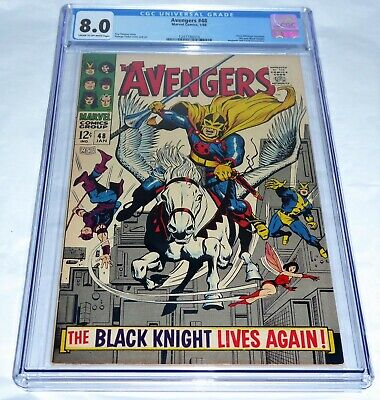 Avengers #48 CGC Universal Grade Comic 8.0 1st Dane Whitman Black Knight Magneto