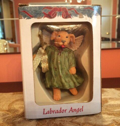 "ANIMAL ANGELS - by Paris Bottman 3.5"" (Yellow) Labrador Angel Ornament 2002"