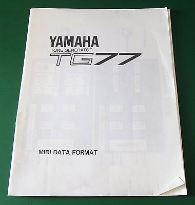Used, Yamaha Tone Generator TG77 MIDI Data Format for sale  Shipping to India