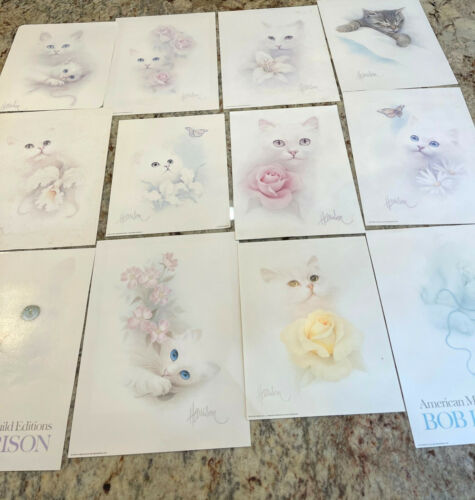 Bob Harrison Cat Prints Vintage Total 12 Prints Lithograph