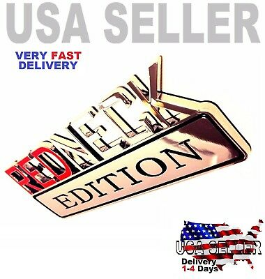 REDNECK EDITION car truck CADILLAC 3D EMBLEM logo decal SUV SIGN chrome RED NECK