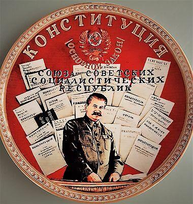 russia plateTeller Porzellan Propaganda UdSSR Russland Iosif Stalin
