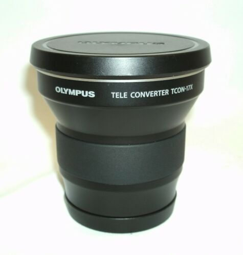 Olympus TCON-17X Teleconverter Lens with Caps from USA - Nice!