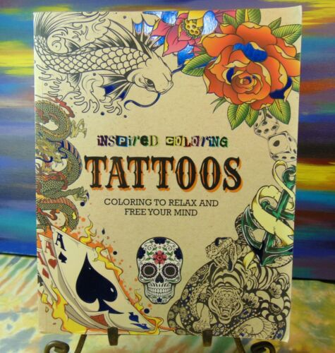 Inspired Coloring - Tattoos - Tattoo Coloring Book