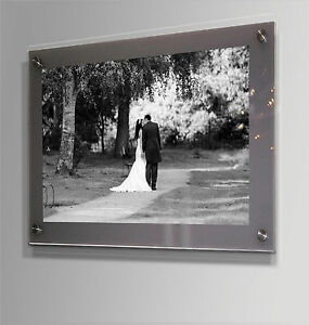 GREY WALL MOUNT GLOSS ACRYLIC 22x16