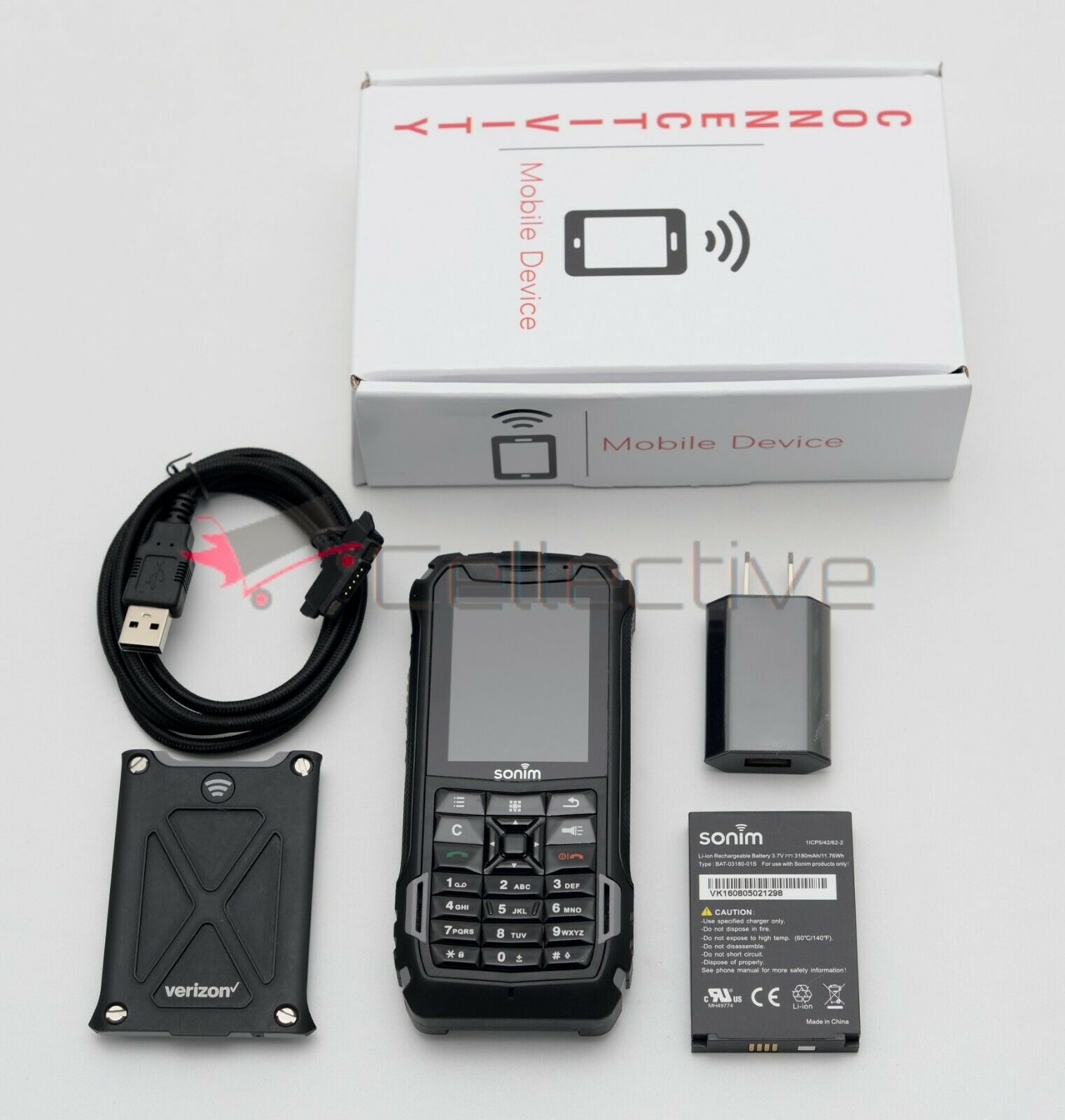 Android Phone - Sonim XP5 XP5700 Verizon 4G LTE Android Waterproof Military Rugged Phone PTT+