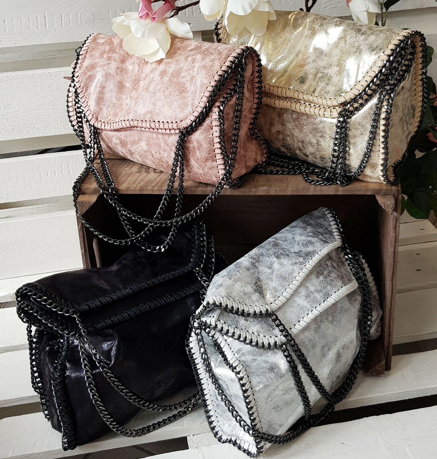93d8b3b386a31 Damentasche Stella  Limited Umhängetasche Metallic Handtasche Kette It-Bag  Neu