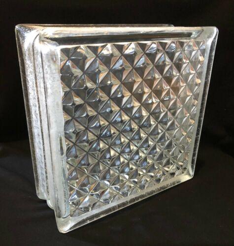 NEW Pittsburgh Corning Architectural Glass Block DELPHI Diamond Blocks USA 8x8x3