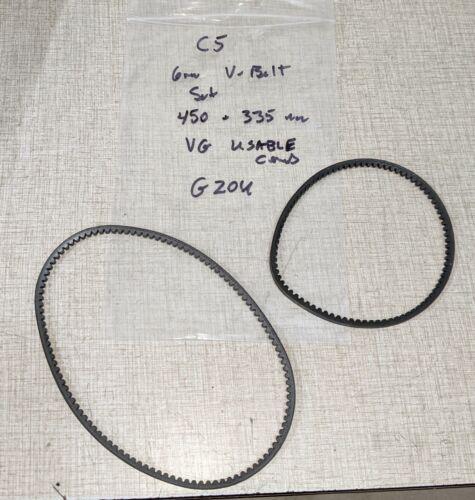 Emco Compact 5 Manual Lathe Parts: V-belt Set G20U