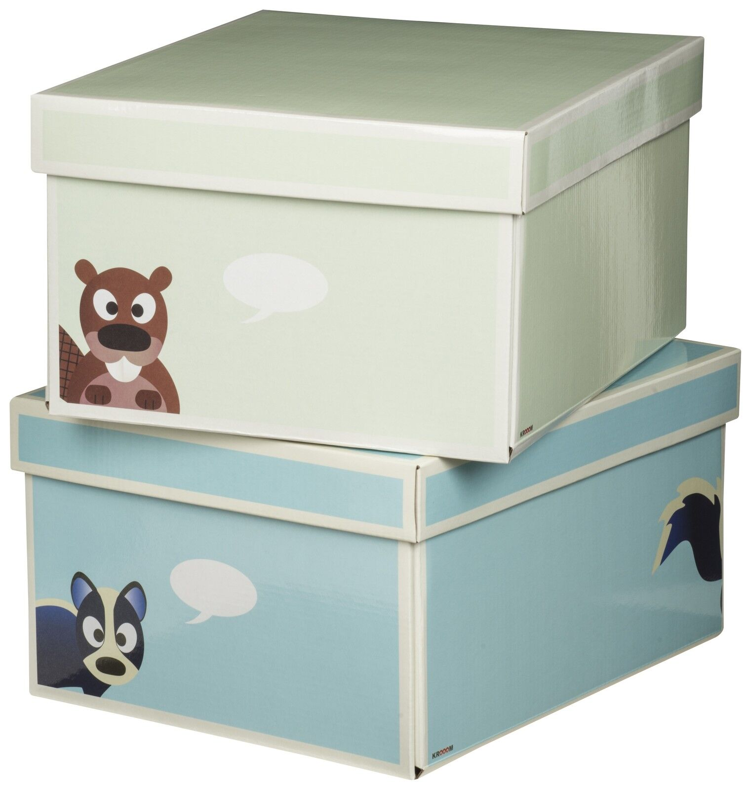 Set Of 2 Krooom Eco Friendly 35cm Storage Box Cardboard Strong Toys Tidy Bedroom 5038673944944 Ebay