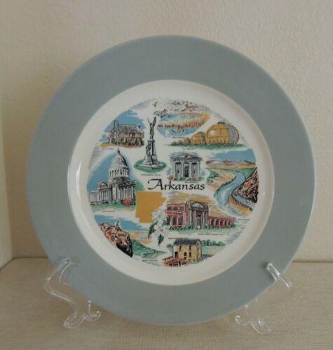 Vintage ARKANSAS Souvenir Collector Plate HOMER LAUGHLIN Made in USA Old Mill