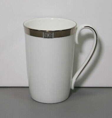 One Jewel Platinum Accent Oversized Mug 4 3/4