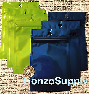 """Assorted Color 200PC 3x5"""" Mylar ZipLock Bags Food Crafts Storage Hobby Gift Bag"""