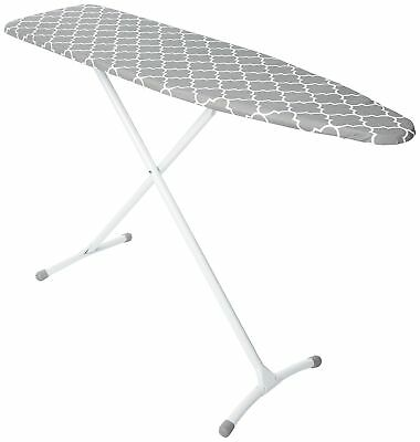 Homz Contour Steel Top Ironing Board, Grey & White Filigree