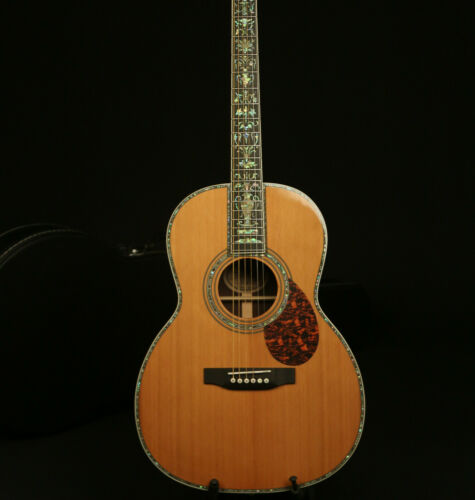 Full Solid Handmade Acoustic Guitar Red Spruce Top India Rosewood Real Abalone