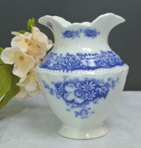 Antique Flow Blue Toothbrush Holder Vase W H Grindley England Perth