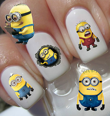 40 Set 2 Minions  DESPICABLE ME Nail Art Decals Stickers Water Transfers Wraps
