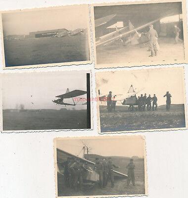 5 x Foto, Blick auf junge Segelflieger (N)19786