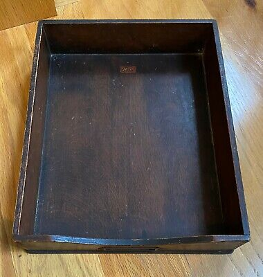 Vintage WEIS Wooden Desk Tray