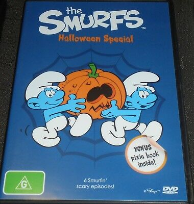 THE SMURFS HALLOWEEN SPECIAL DVD WITH BONUS SMALL BOOK REGION 4 (6 - Smurf Halloween Dvd