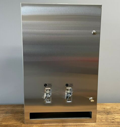 ASI Sanitary Napkin Tampon FREE Vendor Vending Machine Stainless Steel