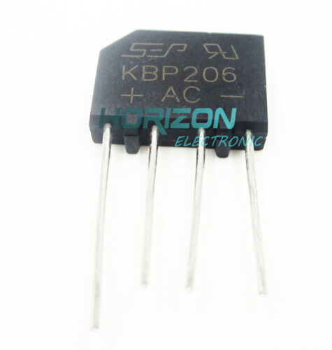 10PCS KBP206 Generic Diode Bridge Rectifier 2A 600V