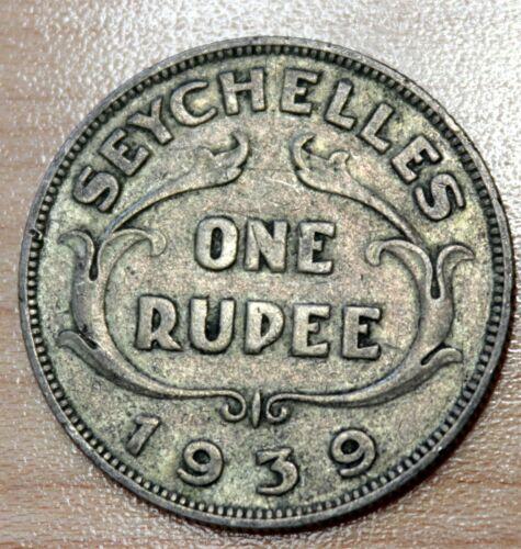 1939 Seychelles Rupee Silver