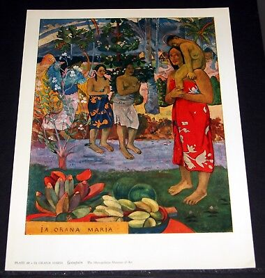 "OLD ART PRINT, ""IA ORANA MARIA"", BY GAUGUIN!"