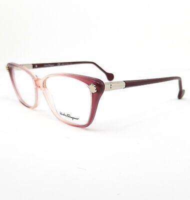 Salvatore Ferragamo Eyeglasses SF2824 525 Cyclamen Cat Eye Women 54x14x140