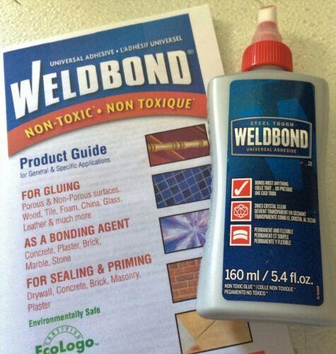 5.4 oz WELDBOND Glass MosaicTile Glue Adhesive Sealer NonToxic +Instructions