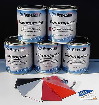 Veneziani Gummipaint 750ml Vernice Per Barche Gonfiabili Colore Di Fender Pelle