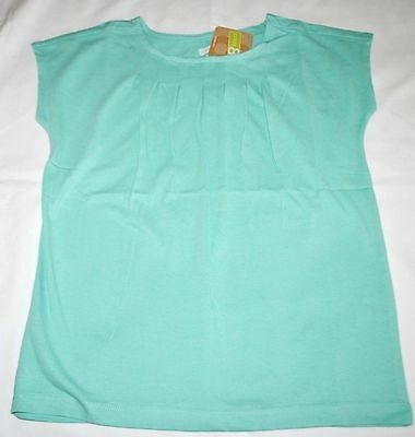 Crazy 8 Aqua Blue Pleated Cotton Tee Shirt Large 10 12 Kid Girls NWT