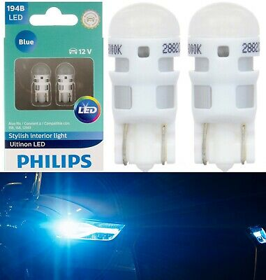 Philips Ultinon LED Light 194 Blue 10000K Two Bulb Front Side Marker Replacement