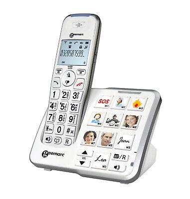 PhotoDECT Senioren-Telefon Fototasten Photophone Amplidect295 AB Geemarc Dect