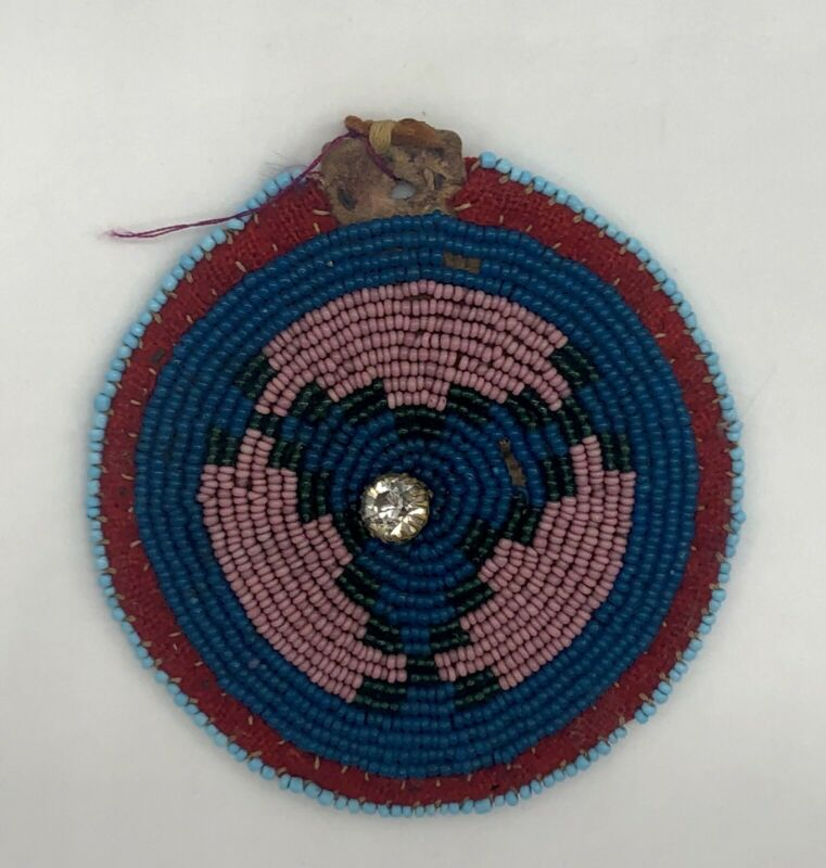 Old Northern Plains Beaded Amulet Medallion