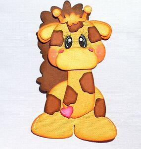 Paper Piecing Baby Giraffe for Scrapbook Pages, Layouts, Albums, Zoo