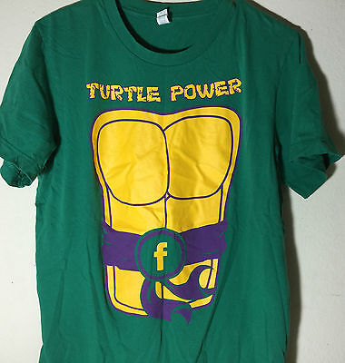 Employee - Facebook Turtle Power Teenage Mutant Ninja Turtles Costume T Shirt M (Ninja Turtle Costume Shirt)